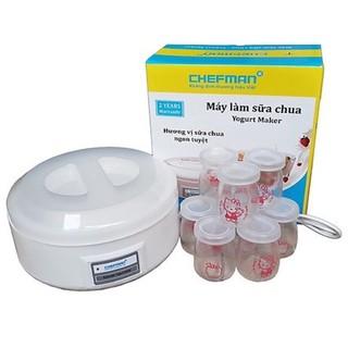 Máy làm sữa chua Chefman Cao Cấp 🎆- 8 cốc thủy tinh – Bảo hành 24 tháng – HÀNG CHÍNH HÃNG
