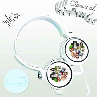 Tai nghe chụp One Piece Đảo Hải Tặc thiết kế thông minh cá tính cắm dây có mic anime chibi