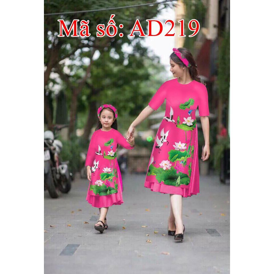 Set áo dài cách tân mẹ và bé gấm họa tiết hoa sen hồng kèm váy AD219 - 15183475 , 2082829671 , 322_2082829671 , 690000 , Set-ao-dai-cach-tan-me-va-be-gam-hoa-tiet-hoa-sen-hong-kem-vay-AD219-322_2082829671 , shopee.vn , Set áo dài cách tân mẹ và bé gấm họa tiết hoa sen hồng kèm váy AD219