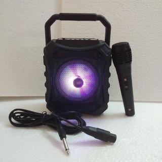 [NHÂP MÃ GIẢM GIÁ] Loa bluetooth karaoke Mini KTS-996C âm thanh to tặng kèm micro có dây