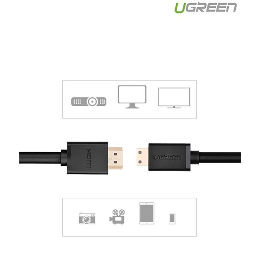 Cáp Mini HDMI to HDMI Ugreen 10195 dài 1M chính hãng - HapuStore