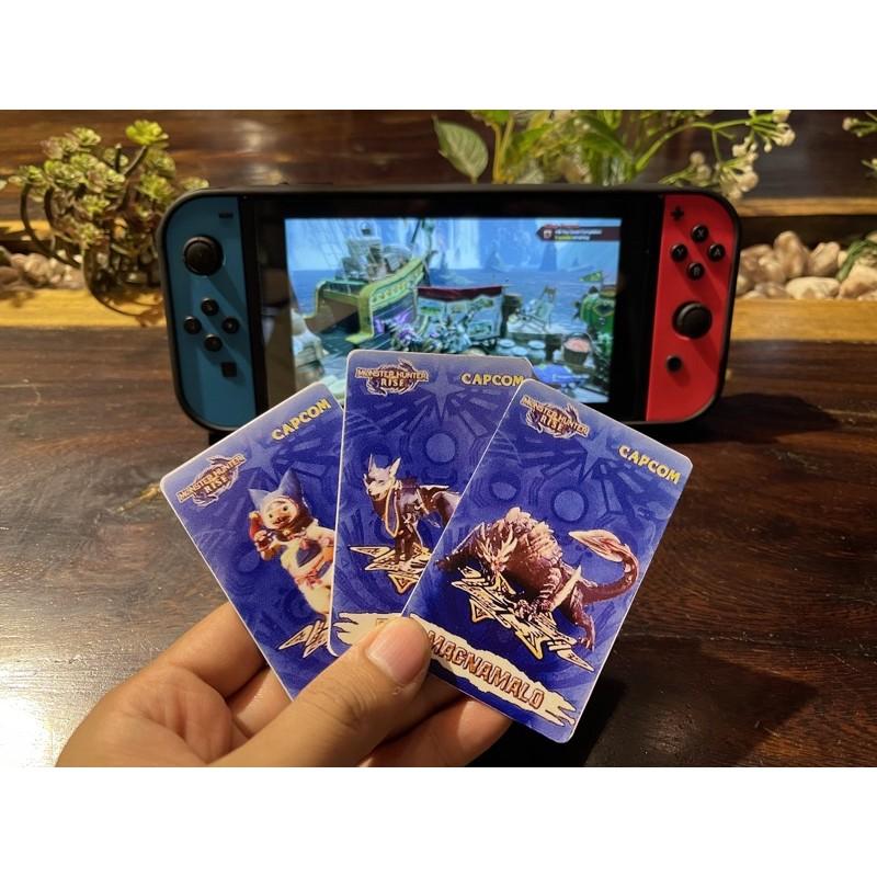 Bộ 3 thẻ Amiibo cho Monster Hunter Rise Nintendo Switch!