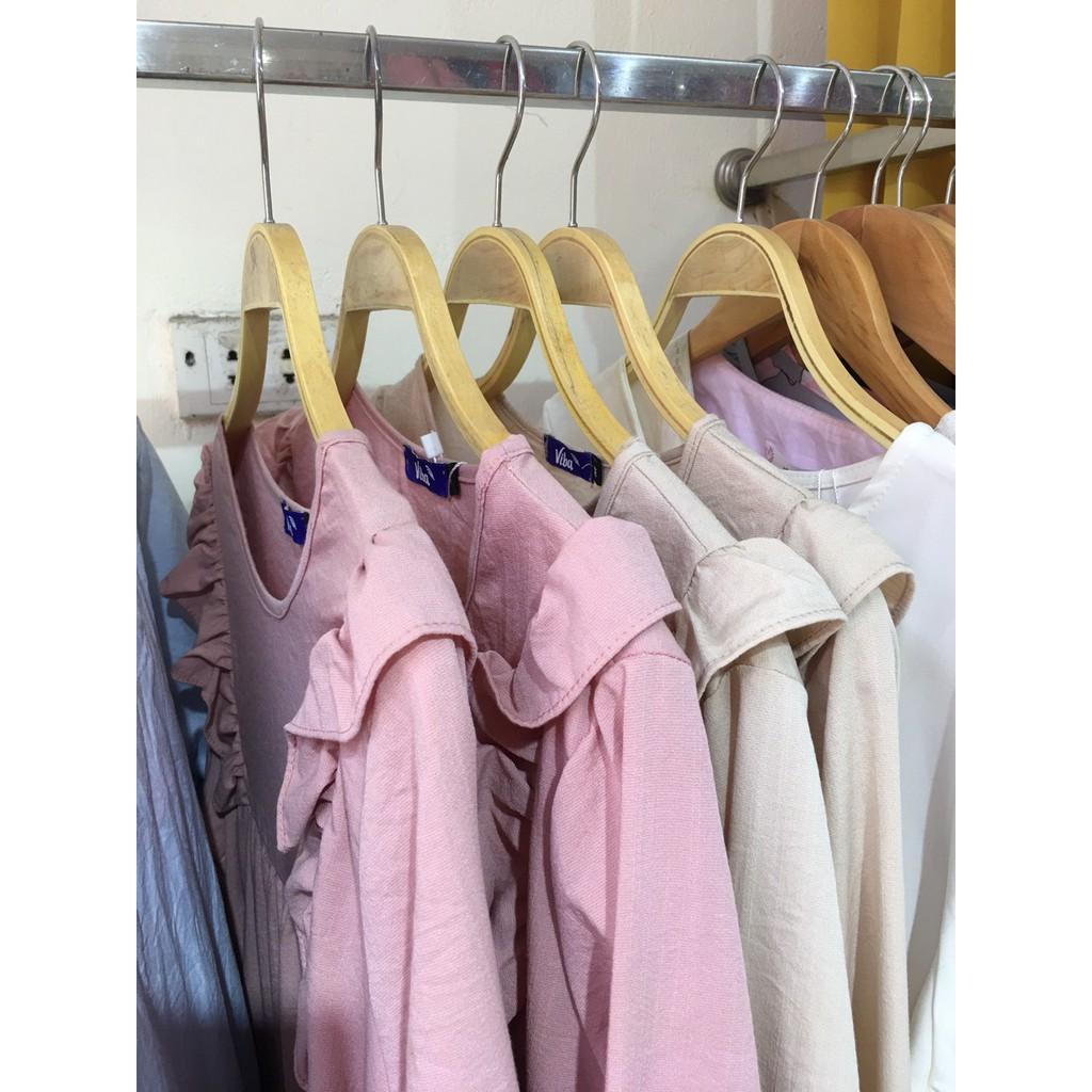 Đầm bầu xinh 💗 FREESHIP 💗 váy hồng vải đũi loại 1