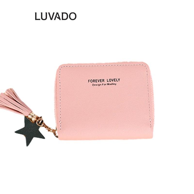 Ví nữ đẹp giá rẻ cầm tay mini MADLEY nhiều ngăn thời trang cao cấp nhỏ gọn dễ thương LUVADO VD414