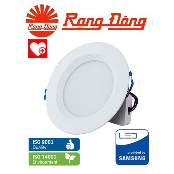 Đèn LED âm trần downlight đổi màu 6W/90 Rạng Đông ChipLED SAMSUNG