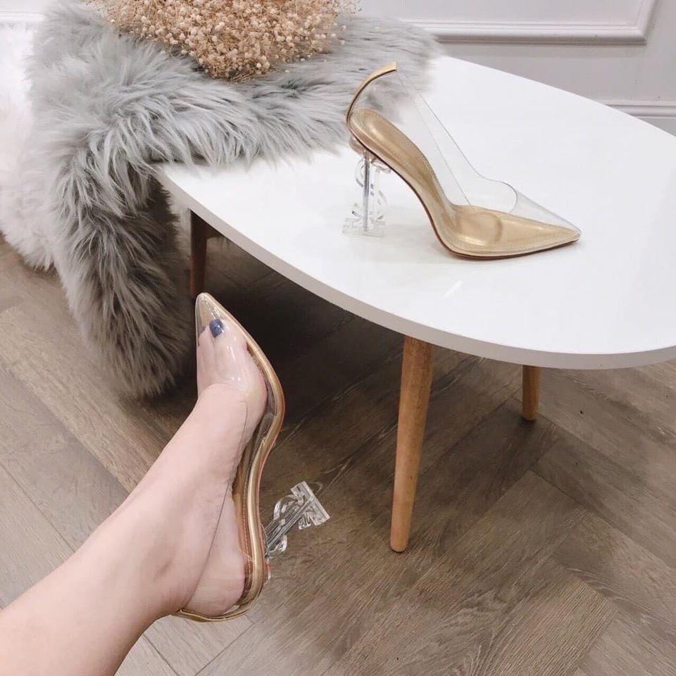 Giày guốc trong cao gót đế xoắn vòng