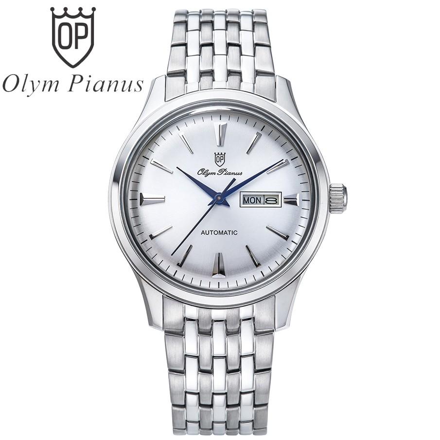 Đồng hồ nam dây kim loại automatic Olym Pianus OP990-141AMS-T