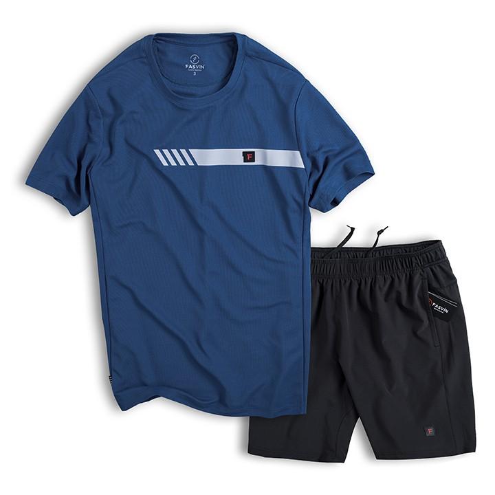 Mặc gì đẹp: Thoải mái với Bộ thể thao nam cộc tay co giãn Fasvin AT20252.HN