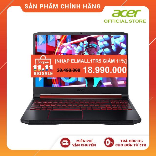 """[Mã ELMALL1TR5 giảm 11% đơn 3TR] Laptop Acer Nitro 5 AN515-54-59SF i5-9300H,8GB,512GB,GTX 1050 3GB,15.6"""" WIN 10"""