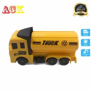 Đồ chơi xe ô tô Truck xinh xắn màu vàng có bánh đà cho bé giá rẻ siêu ưu đãi thumbnail