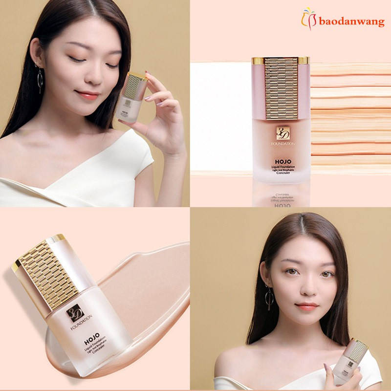 Liquid Foundation Concealer Moisturizing Brighten Skin Long Lasting Makeup for Women
