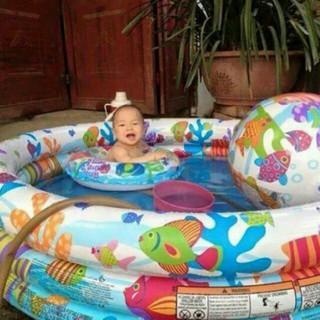 Bể bơi 3 chi tiết kèm bơm