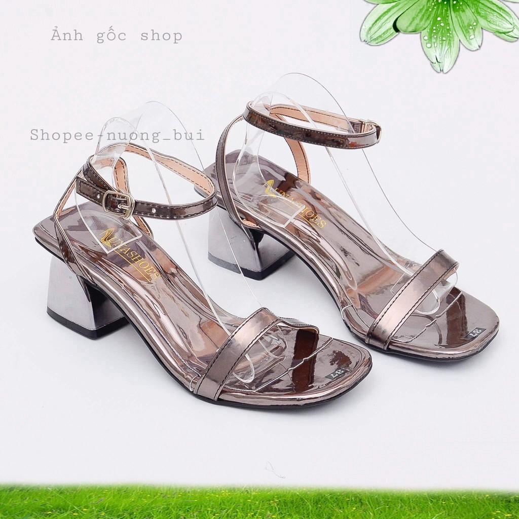 Giày Sandall cao gót quai trơn siêu xinh cao 6p - B27