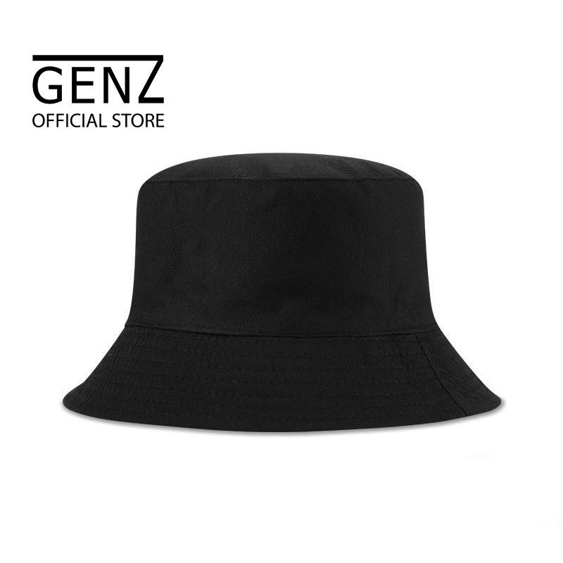 Nón bucket tròn vành GENZ trơn nhiều màu phong cách Ulzzang Unisex ZA005