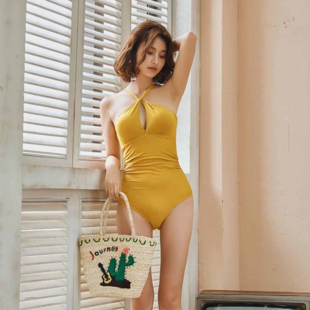 Tuyệt phẩm- Bộ bikini đi biển 1 mảnh áo có đệm tạo khe hàng cao cấp