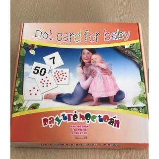 Bộ Dạy trẻ học toán – DOT card for baby Học liệu Glenn Doman