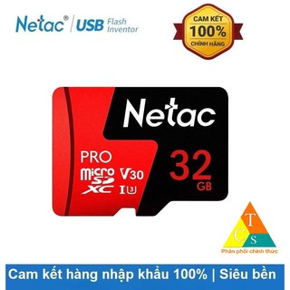 Thẻ nhớ MicroSD 32Gb Netac U3 Class10 Pro