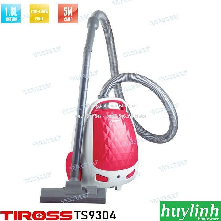 Máy hút bụi Tiross TS9304 - 1.8 lít - 1600W - Malaysia