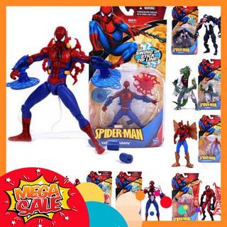 Mô Hình Người Nhện Spider Man Venom Carnage Red Venom Người Thằn Lằn Marvel Classic Heroes