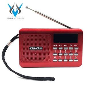 [Mã ELFLASH5 giảm 20K đơn 50K] Loa nghe nhạc USB thẻ nhớ Craven CR-16 (Đỏ)