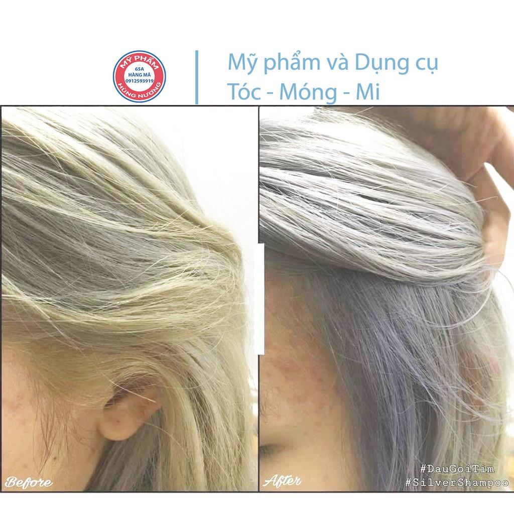 Gội xả Elgon Tím 300ml chăm sóc tóc tẩy trắng, bạch kim