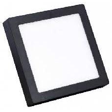Đèn LED ốp trần gắn nổi 6W, 12W, 18W, 24W vuông tròn viền ĐEN ánh sáng trắng