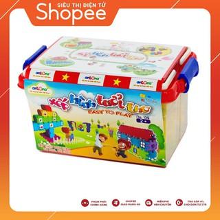 [Giá Shock] đồ chơi lắp ghép – combo 4 Bộ đồ chơi lắp ghép xếp que thông minh – SIÊU CHẤT LƯỢNG