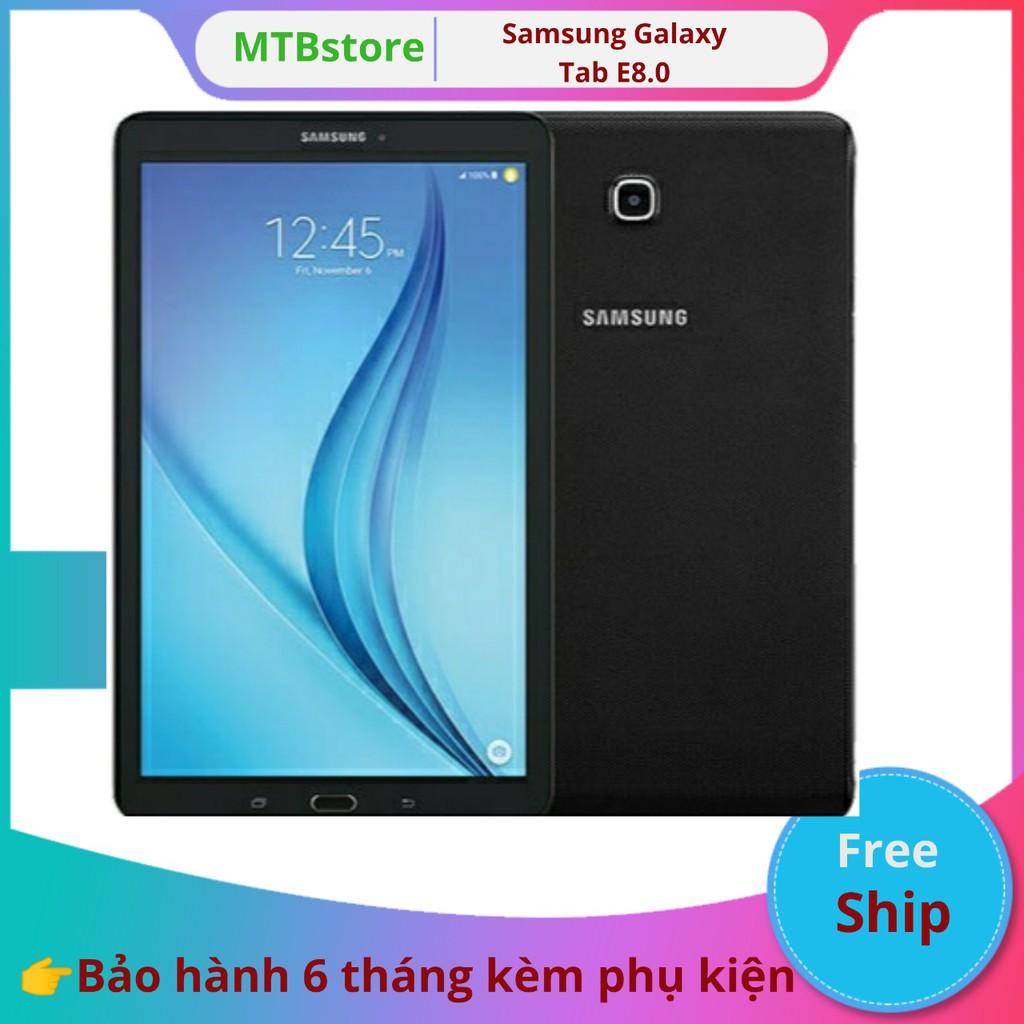 Máy tính bảng Samsung Galaxy Tab E 8.0 bản 4g tặng đế dựng, 2 phần mềm tienganh123, luyenthi123, dán màn hình, đế dựng