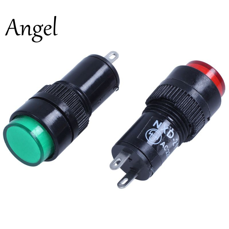 AC 220 V 2 P lamparas de senalizacion luces piloto indicador 12 pzas