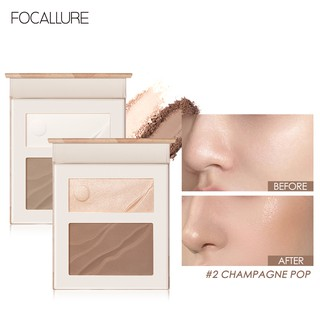 FOCALLURE Long Lasting Contour Highlight Natural Pigmented Makeup 2 in 1 Palette 1pc 8g thumbnail