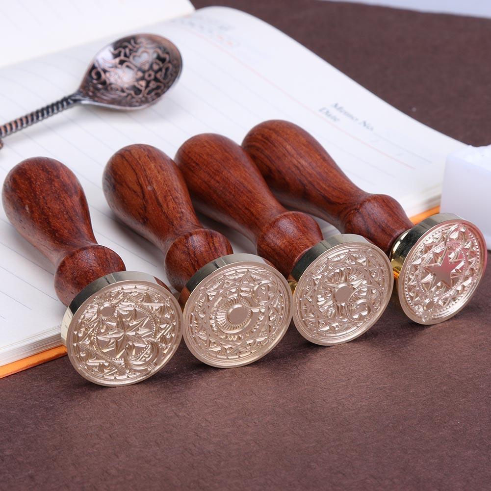 Con dấu gỗ in hoạ tiết phong cách cổ điển