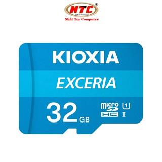 [Mã ELFLASH5 giảm 20K đơn 50K] Thẻ nhớ MicroSDHC Kioxia Exceria 32GB UHS-I U1 100MB/s (Xanh) - Formerly Toshiba Memory