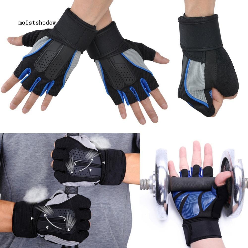 MISD Anti-slip Cycling Fitness Gloves Gym Train Half Finger Weight Lifting Men Sport