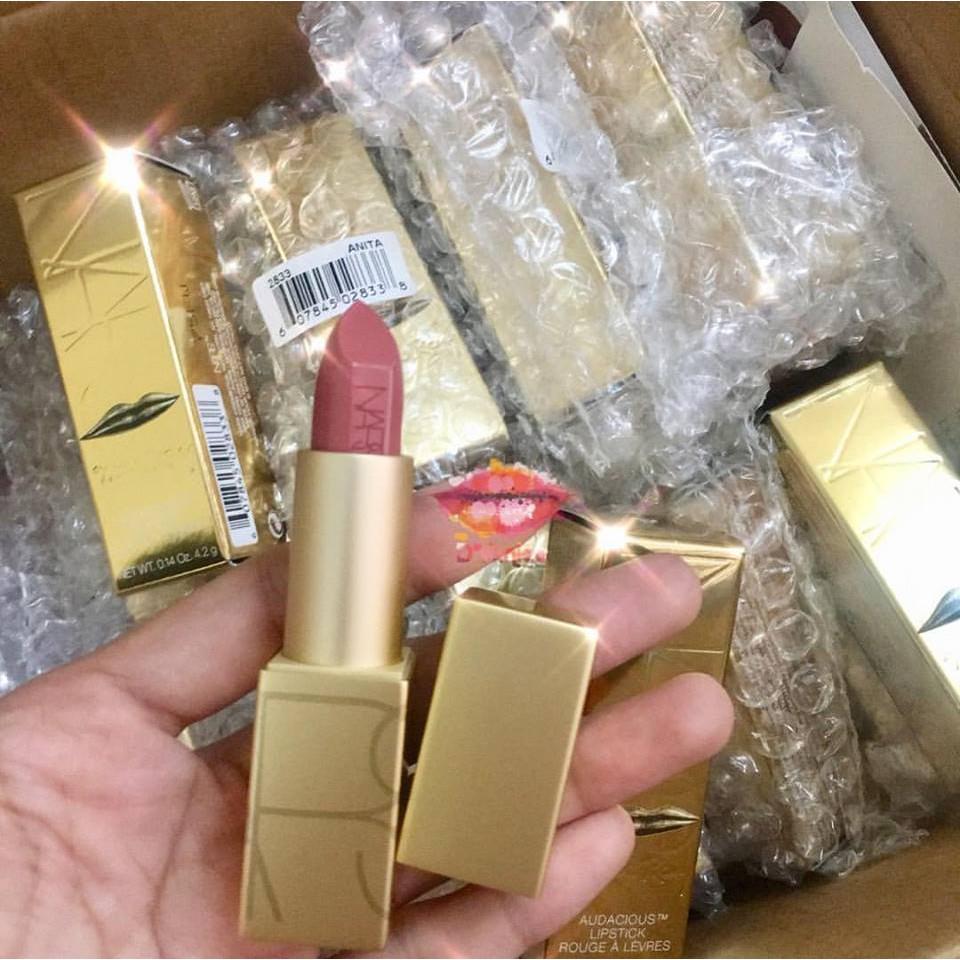 Son Thỏi NARS Audacious Lipstick - Màu Anita Vỏ Vàng Limited 2017