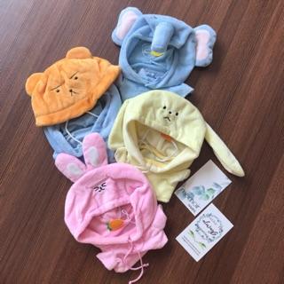 Outfit cho Doll 20cm – Set Sky Bear, Hoodie voi, Hoodie thỏ hồng, Hoodie thỏ vàng