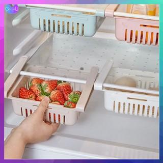 [HÀNG LOẠI 1]Khay Rổ Nhựa Kéo Dài Đựng Thực Phẩm Trong Tủ Lạnh, Rổ Cài Tủ Lạnh, Cài Bàn Đa Năng, Thông Minh, Tiện Dụng thumbnail