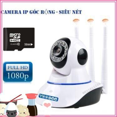 (Hót Hòn Họt) Camera IP Wifi siêu nét Full HD 1080P Yoosee 2.0M