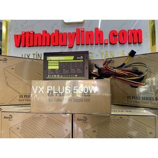 Nguồn Mới 500W AeroCool VX PLUS 500 dây dài có 8 pin cpu,6Pin 8Pin cho vga bảo hành 36 tháng thumbnail