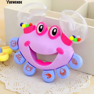 ‴Baby Kid Toy Jingle Musical Educational Shaking Rattle Plastic Crab Handbell