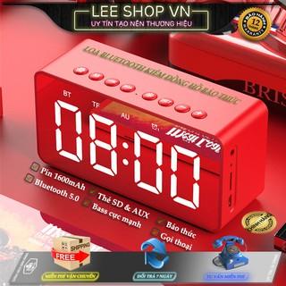 ✅[ Chính Hãng] Loa Bluetooth Kèm Đồng Hồ LED Kiêm Báo Thức BT506F Mặt Gương - Bass Cực Đỉnh - Có Quà Tặng Kèm - Lee Shop