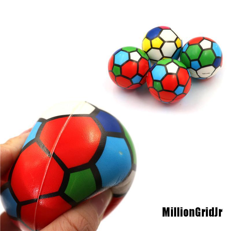 NewdJr 1PC Stress Relief Vent Ball Colorful Mini Football Squeeze Foam Ball Kids Toys Super