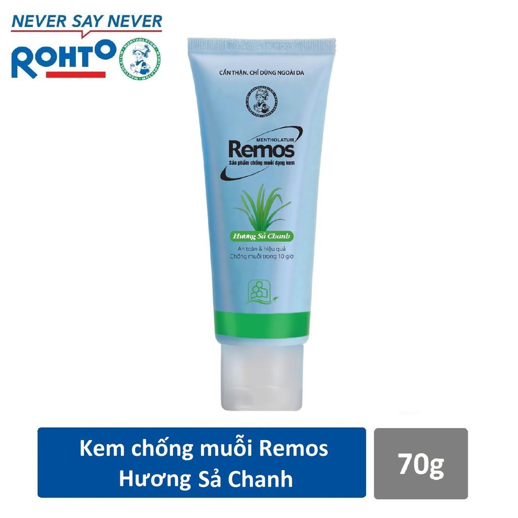 Kem chống muỗi Rohto Metholatum Remos Hương Sả Chanh 70g
