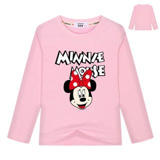 Áo thun dài tay cho bé trai Cô gái cổ điển Mickey / Minnie Mouse Áo phông đồ họa