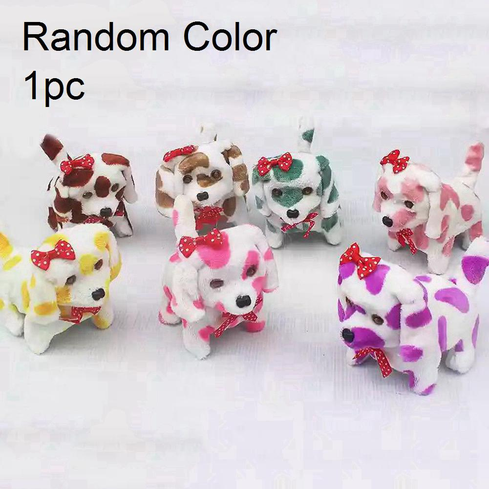 Birthday Gift Bark Walk Party Stand Robot Electronic Toys Children Plush Interactive Dog Random Color