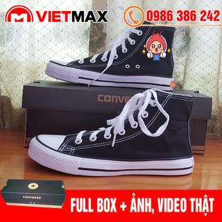 Yêu Thích🎁 [FREE SHIP + BOX] Giày Thể Thao CV Classic Đen Trắng Cao Cổ Hàng Chất Lượng
