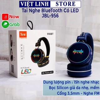 [Mã ELFLASH5 giảm 20K đơn 50K] Tai nghe chụp tai JBL-956 có đèn led, hàng chính hãng full box - Việt Linh Store