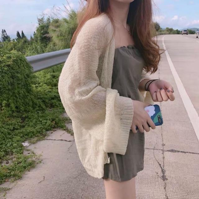 Áo khoác len mỏng nhẹ nhiều màu