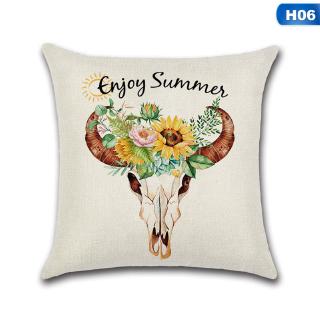 Vỏ gối bằng vải lanh hình hoa hướng dương độc đáo   Shopee ...