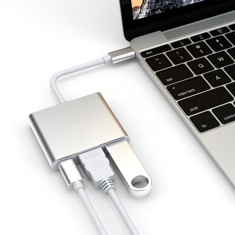[ĐỦ MÀU] HUB Chia Cổng Chuyển Đổi Đầu USB Type C Đa Năng Dành Cho Retina MacBook