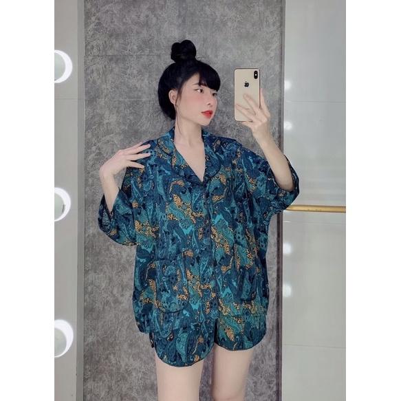 Mặc gì đẹp: Mát mẻ với Pijama lụa đùi cánh dơi🌻đồ ngủ mặc nhà cao cấp🌻 sang chảnh